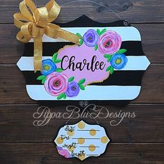 Excited to share the latest addition to my shop: Baby Announcement Door Hanger, Nursery Decor, Baby Sign, Baby Girl Door Hanger Baby Boy Birth Announcement, Birth Announcement Template, New Baby Announcements, Baby Shower Signs, Baby Boy Shower, Quilted Christmas Gifts, Baby Crafts To Make, Welcome Home Baby, Baby Door Hangers