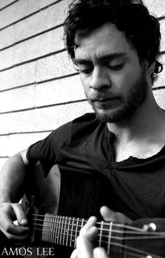 Amos Lee Playing Guitar Portrait Music Poster 11x17