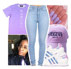 """Untitled #343"" by gabb-slayy ❤ liked on Polyvore featuring adidas"