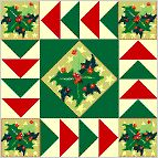 Christmas Geese--this is made with Christmas fabric but you can use any color..nice block to fussy cut for the center and 4 outer blocks