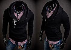 BOLF 01 - CZARNY   Odzież Dla Niego \ Bluzy męskie \ Bluzy z kapturem Kolekcja Męska   Denley - Odzieżowy Sklep internetowy   Odzież   Ubrania   Płaszcze   Kurtki