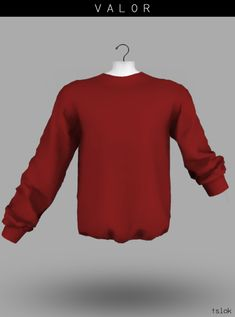 Valor Male Uneven Sleeves Sweatshirt for The Sims 4