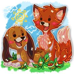 The fox and the hound by Kopitu.deviantart.com on @deviantART