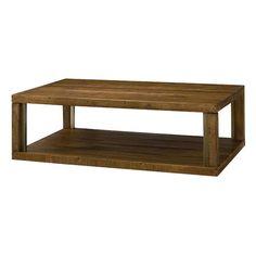 Flashback Rectangular Cocktail Table in Brown Oak | Nebraska Furniture Mart