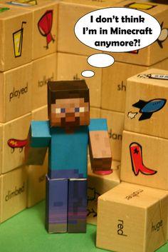 Minecraft Papercraft, via Flickr.