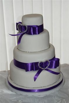 Image detail for -Exclusive Wedding Cakes :: Buckles and Bows ~thats a lovely royal purple~xoxo~