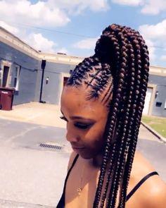 kids knotless box braids with beads & kids knotless box braids . kids knotless box braids with beads . kids knotless box braids with color . kids knotless box braids with curly ends Box Braids Hairstyles, Black Ponytail Hairstyles, Braided Hairstyles For Black Women, Girl Hairstyles, Cornrows With Box Braids, Cornrows Updo, Ghana Braids, Protective Hairstyles, Black Girl Braids