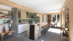 Grand Designs NZ: Going green on a Wellington cliff edge | Stuff.co.nz Built In Furniture, Furniture Decor, Denmark House, Cliff Edge, Galley Style Kitchen, Polished Concrete, Grand Designs, First Home