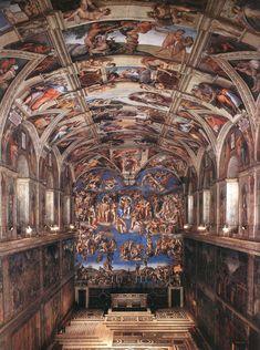 ❤ - MICHELANGELO BUONARROTI - (1475 - 1564) - Sistine Chapel.