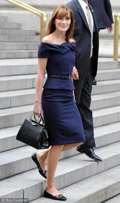 Carla Bruni pencil dress