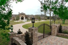Casa Bella Estate Front Grounds and Gate