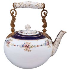 A Rare Meissen Porcelain Teapot, Germany, 19th Century  The history of porcelain manufacturing in Europe begins in Meissen, Germany near Dresden, the cradle of European porcelain.