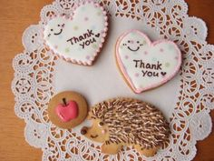 hedgehog sugar cookie