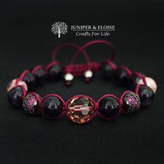Womens Shamballa Bracelet, Gift For Her, Gemstone Bracelet Gift, Trendy Gift, Shambala Bracelet For Women, Adjustable Sliding Knot, V Day by JuniperandEloise on Etsy