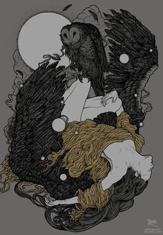 Richey Beckett, illustrator. New shirt illustration for Swiss band, When Icarus…
