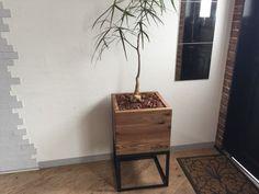 014039 アイアングリーンラック 観葉植物 プランター 無垢材 アイアン家具 緑 いのか家具