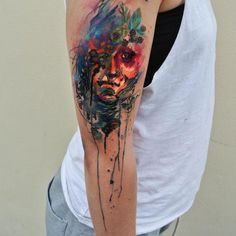 Colorful Watercolor Tattoo - 50  Examples of Colorful Tattoos  <3 <3