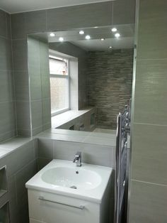 Bathroom Mirror Wall Hung Basin Unit And Lighting