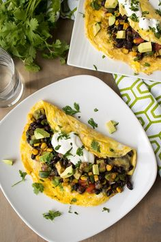 A quick breakfast omelette recipe stuffed full with some of your favorite Mexica. Breakfast Omelette, Veggie Omelette, Healthy Omelette, Cheese Omelette, Brunch Recipes, Breakfast Recipes, Breakfast Ideas, Breakfast Dishes, Breakfast Cooking