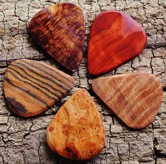Wooden Guitar Picks – (Choose Wood Types)