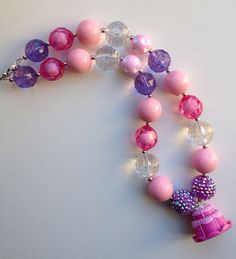 Birthday cake chunky necklace.. Chunky bead by GirlzNGlitter, $19.00
