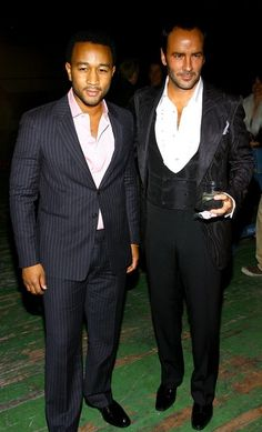 two of my fashion role models. John legend and Tom Ford. Mens fashion