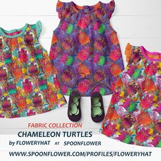 Chameleon, Turtles, Spoonflower, Mockup, Kids Fashion, Collections, Summer Dresses, Wallpaper, Children