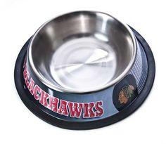 Chicago Blackhawks Stainless Steel Dog Bowl