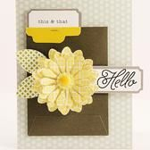 card with single big flower - This and That | Joy Taylor - Front Row Card Kit @Studio Calico