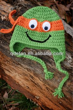 2013 New Michelangelo teenage Mutant Ninja Turtle crochet hat Baby Newborn Turtle Photo Prop