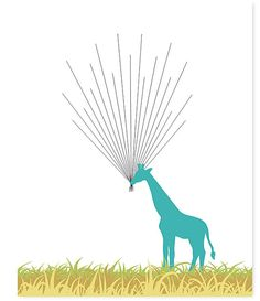Giraffe Baby Shower  Alternative Guest Book  by SweetPeaNurseryArt