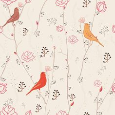 Papel de Parede Autocolante - Pássaros 136991126 » Papel na Parede - Autocolante