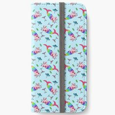 """""""Catfish Mermaid Party All Over Pattern"""" iPhone Wallet by grumblebeeart 