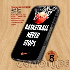 Nike Basketball Never Stops - Print On Hard Case iPhone 5 Case | GetToMade - Accessories on ArtFire