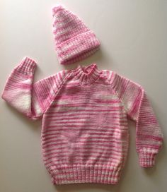 Handmade Knitted Wool Child's Jumper and Hat on Etsy, $20.00 AUD