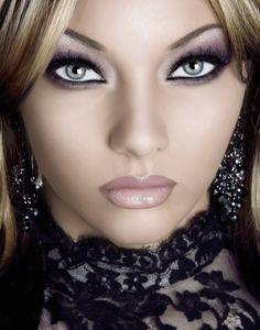 purple smokey eyes with mauve lips Recreate the look here www.beautyprojectuk.com