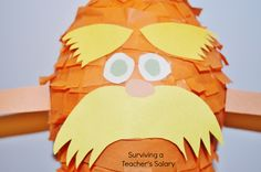 DIY Dr Seuss The Lorax Pinata Tutorial #Seuss