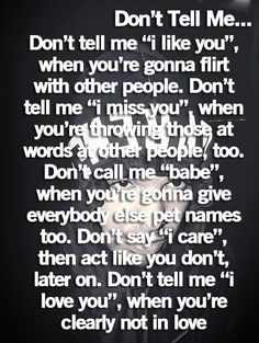 Right! dont play with a girls feelings especially when she really cares about you. your loss.