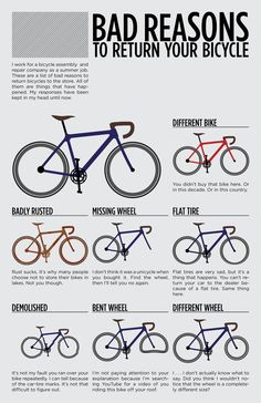 Bad reasons to return your bicycle