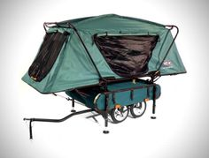World's Smallest Bike Trailer Pop-Up Tent by Kamp-Rite - lifestylerstore - http://www.lifestylerstore.com/worlds-smallest-bike-trailer-pop-up-tent-by-kamp-rite/