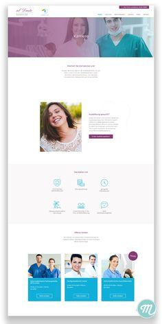 Websitedesign mit Karriereportal mit offenen Stellen