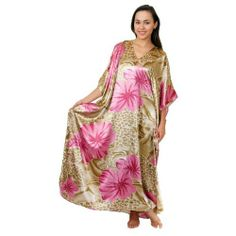 9549d2efd4 Caftan Kaftan with Cool Lilac Print with Beads