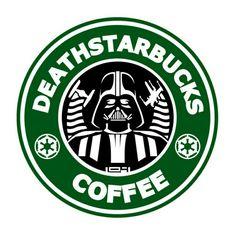 Star Wars and Starbucks logo mashup.