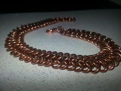 Copper Chainmaille Bracelet  171 D by knapstir on Etsy, $20.00