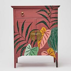 A New Leaf: Our Iro Wooden Furniture Collection Pink Cabinets, Painted Cupboards, Wood Cabinets, Hand Painted Furniture, Funky Furniture, Painting Furniture, Upcycled Furniture, Furniture Ideas, Furniture Design