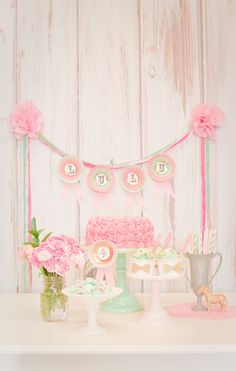 Adorable Kids Derby Day Party + Dessert table styled by Shop Sweet LuLu.