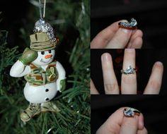 Military Santa salutes you gorgeous ring!