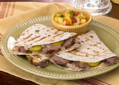 Brat Quesadillas with Johnsonville Original Bratwurst