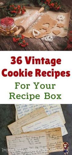 36 Vintage Cookie Recipes for Your Recipe Box. For Christmas or any holiday you … 36 Vintage Cookie Recipes for Your Recipe Box. For Christmas or any holiday you want to make special with these old fashioned recipes. Retro Recipes, Old Recipes, Vintage Recipes, Recipies, Recipes For Desserts, Italian Recipes, Diabetic Desserts, Italian Desserts, Simple Recipes