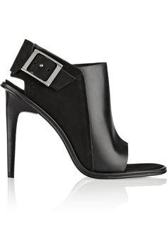 Tibi Milou leather and nubuck sandals